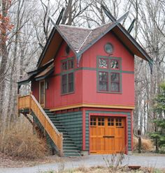 """Tiny house with room for the car, """"toys"""", lawn mowers, etc! We can build a custom tiny house to fit all your must haves! Tiny House Big Living, Tiny House Cabin, Small House Plans, Small Room Design, Tiny House Design, Home Design, Cabin Design, Design Ideas, Design Design"""