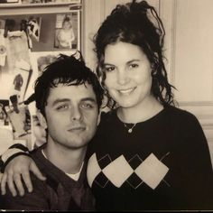 Adrienne Armstrong, Billie Joe Armstrong, Emo Band Memes, Emo Bands, Cutest Couple Ever, Pete Wentz, Panic! At The Disco, Green Day, Fall Out Boy