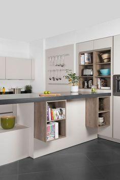 Darty cuisine électroménager : les nouvelles cuisines en 10 photos - CôtéMaison.fr Rangements côté salon.