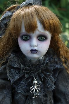 pics of goth dolls | ... OOAK Gothic porcelain doll repaint by A. Gibbons DMA goth fairy tale