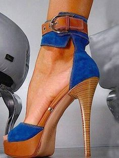 Blue Platform Sandals Denim Ankle Strap High Heels Shoes for Night Club Today Only! Blue Platform Sandals Denim Ankle Strap High Heels Shoes for Night Club Stilettos, Schnür Heels, Ankle Strap High Heels, Sexy Heels, Strap Heels, Stiletto Heels, Blue Heels, Denim Heels, Denim Sandals