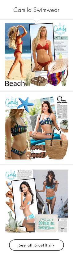 """Camila Swimwear"" by gaby-mil ❤ liked on Polyvore featuring H by Hudson, Stela 9, Summer, black, swimwear, handmade, camilaswimwear, Bobbi Brown Cosmetics, Urban Decay and Billabong"