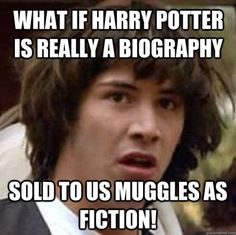 what if harry potter is really a biography, sold to us muggles as fiction! lol