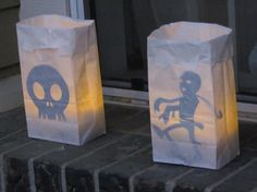 sillouette bags for halloween from Emma Rae Curtis Halloween Blog