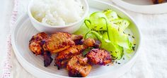 For a quick weeknight meal coat chicken nibbles in a sticky, spicy rub and bake. Serve with a fresh cucumber salad and plenty of boiled rice.