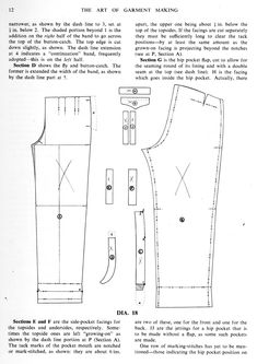 Trouser Making - The Trouser and Waistcoat Forum - The Cutter and Tailor