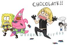 lol it would appear that there has been some sort of death note sponge bob crossover lol