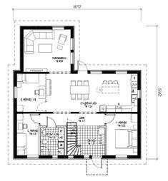 Det här är ett rymligt och flexibelt hus som passar det lite större hushållet. Med sin klassiska stil passar det fint i alla slags miljöer. Här finns gott om praktiska förvaringsmöjligheter och stora, ljusa sällskapsytor med öppen planlösning. Den rymliga hallen är en av husets mest uppskattade egenskaper och som tillval finns bland annat praktisk skrubb under trappan. Husets vinkel ger uteplatsen en trevlig och ombonad innergårdskänsla och separat klädvård finns som tillval.