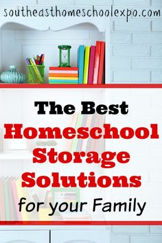 Looking for homeschool storage solutions in the new year? We have some creative ideas that can help whip your homeschool space into a more organized area for your family. Best Homeschool Curriculum, Homeschool Supplies, Homeschooling Resources, Planning And Organizing, Book Organization, Storage Solutions, Creative Ideas, School Tips, Space