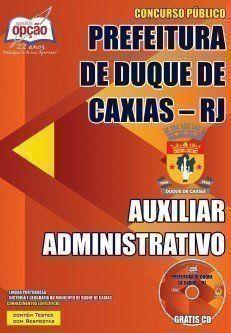 Apostila Prefeitura De Duque De Caxias Rj Cargo Auxiliar