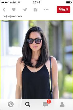 Shoulder length haircut is easy to style every day. All the old ladies … - Lange Haare Ideen Medium Hair Styles, Short Hair Styles, Hair Medium, Medium Long, Medium Thick Hair Cuts, Medium Layered, Long Layered, Brown Blonde Hair, Grunge Hair