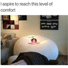 Soooo cute!! Tag the cutest person you know.  #comfort #cute #sarcasm #sarcasmscene #bed #chair #comfy #girl #child #aspire #life #lifestyle
