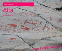 Alta stand seit Beginn unserer Reiseplanung auf der Liste der Orte, die wir in Norwegen unbedingt besuchen wollten. Denn die hier gefundenen jungsteinzeitlichen und bronzezeitlichen Felsritzungen sind etwas ganz besonderes.In der Region um Alta wurde mehr Felskunst von Jägern und Sammlern hergestellt, als sonst in Nordeuropa. Hier gibt es vier Plätze mit in den Stein geschlagenen Felsritzungen (Hjemmeluft, Kåfjord, Amtmannsnes and Storsteinen) und einen Platz mit Felsmalereien… Norway, Stone