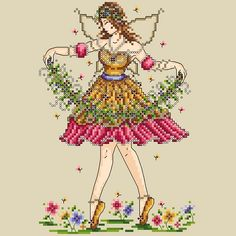 Lasting Allure: The Garden Fairy - what a pretty pattern by WOXS designer Shannon Wasilieff