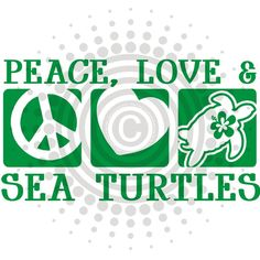 Peace Love Sea Turtles Vinyl Decal Sticker Choice by gotdecalz World Turtle Day, Turtle Time, Save The Sea Turtles, Carapace, Tortoise Turtle, Peace And Love, My Love, Tortoises, Ocean Life