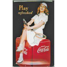 Coca-Cola embossed tin sign