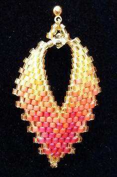 Russian Leaf Earrings by BeadAndBowtique on Etsy