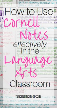 In my Last Post I talked about ditching Interactve Notebooks in favor of binders and Cornell Notes. I used to be a teacher who cringed...