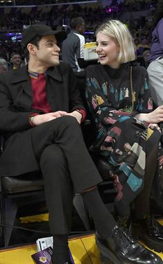 Rami Malek and Lucy Boynton Enjoy a Black Friday Date Night Fashion Couple, Girl Fashion, All Black Suit, Barbie Ferreira, Lucy Boynton, Rami Malek, Stylish Mens Outfits, Spring Hairstyles, All Smiles