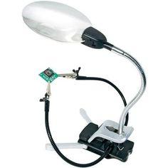 Lampe-loupe avec troisième main Bresser Optik 2 x (4 dioptries) /4 x (12…