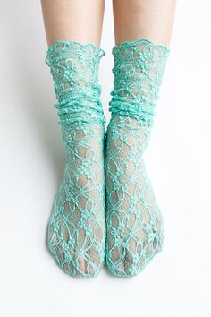 Women New Hezwagarcia Nylon Spandex Floral Mesh Sheer Lace Mint Blue Ankle Nylon Wedding Loose Socks Hosiery Loose Socks, Teen Feet, Crazy Socks, Mint Blue, Cute Socks, Only Shoes, Bra And Panty Sets, Fashion Socks, Tight Leggings