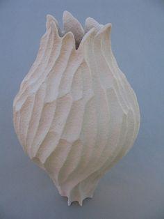 "Elizabeth Shriver Ceramics:  Coral Vase, 14"" x 8"" x 8"""