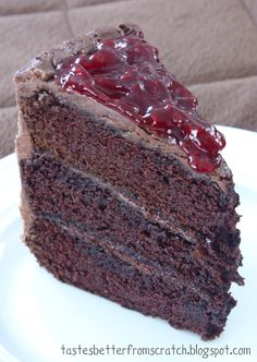Chocolate Cake with Raspberry Filling-