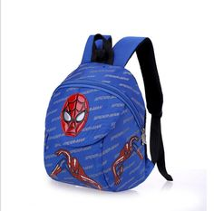 2017 New Cute Little Kid School Bag Child Spider-Man Backpack Schoolbag Children Anti lost baby backpack