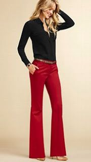Polished & Professional: style ideas--Red Pants! I wish I had bought them when I had the chance. I think about them every day...