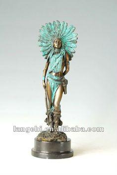 art deco sculpture bronze standing woman warrior sculpture