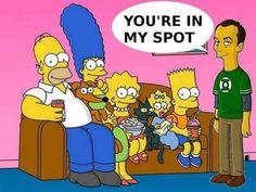 Sheldon meets The Simpsons lol