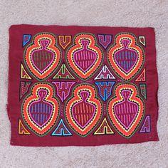 "Vintage, VERY Cultural, Rare ""Naku Mor"" 4 Layer +, Hand Sewn Hammock Weaving Tool Mola - Rare Ottomano Fabric Base"