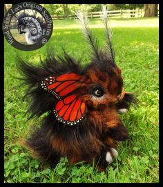 Handmade Poseable Monarch Bunnyfly! by Wood-Splitter-Lee.deviantart.com on @DeviantArt