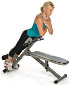 Stamina Pro Ab/Hyper Bench - The Stamina Ab/Hyper Bench Pro gives you terrific core strength, ripped abs and powerful back muscles. Work your upper and middle abs in four crunch positio Steel Fitness, Gym Fitness, Health Fitness, Health Exercise, Fitness Wear, Padded Bench, Lower Back Muscles, Hip Muscles, Lower Abs