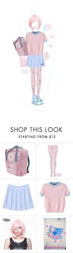 """sugar sweet"" by lions-from-space ❤ liked on Polyvore featuring Fjällräven, WithChic and Rockstar Wigs"