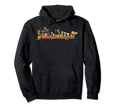 Amazon.com: Nickelodeon Vintage 90\'s Characters Smiling Logo Pullover Hoodie: Clothing