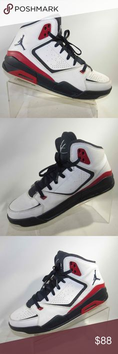 2a36219d28c1 Nike Air Jordan Flight Sz 12 White Blue Mens Shoes Nike Air Jordan Flight  USA Olympics