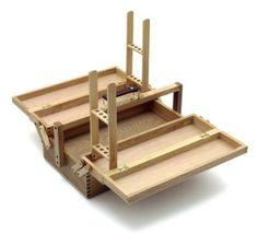 Artina - caja de pinturas VIENNE - 2 soportes para pinceles - cómoda portátil y plegable - 42x18x24 cm: Amazon.es: Hogar