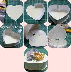 Kartondan Kalp Kutu Yapımı Elişi