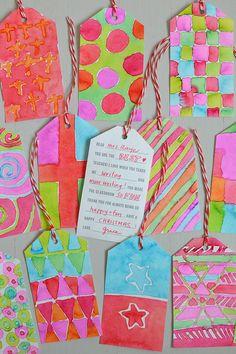 DIY Teacher Gift Tags - Watercolor Gifts - Christmas Gifts for Kids to Make - Smallforbig.com #printable #DIY