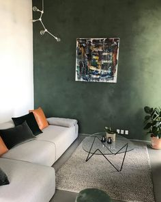 Embrace the contrasts of scandinavian colors and the vibrant colors of nature in yo All The Colors, Vibrant Colors, Cozy Living, Copenhagen, Beautiful Homes, Scandinavian, Wall Decor, Couch, Interior Design