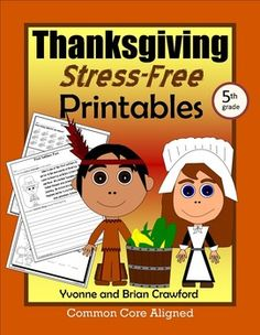 Thanksgiving Math and Literacy Stress-Free Printables $
