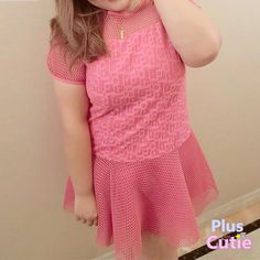 Plus Size K-fashion Cute Organza Hollow-out Dress Free Shipping SP140867