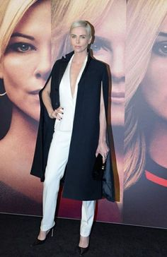 Charlize Theron wears Dior Charlize Theron, Dior, Blazer, Jackets, How To Wear, Women, Fashion, Down Jackets, Moda