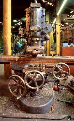 Google Image Result for http://www.edinphoto.org.uk/0_my_p_edwk_r/0_my_photographs_edinburgh_at_work_-_stevenson_and_cheyne_re26.jpg Metal Working Tools, Old Tools, Antique Tools, Vintage Tools, Metal Tools, Antique Metal, Metal Mill, Machinist Tools, Industrial Machinery