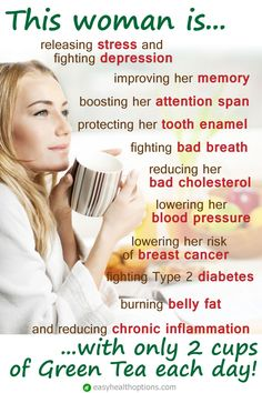 The health benefits of tea - Easy Health Options® Tea Benefits, Health Benefits, Health Options, Fighting Depression, Attention Span, Natural Health Tips, Bad Breath, Lower Cholesterol, Wellness Fitness