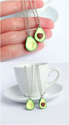 This unique avocado best friend necklace for 2 is so cute and funny!! Great for BFFs with a quirky sense of humor. For for women or for teens.