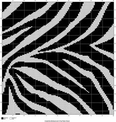 Zebra crochet graphgan pattern