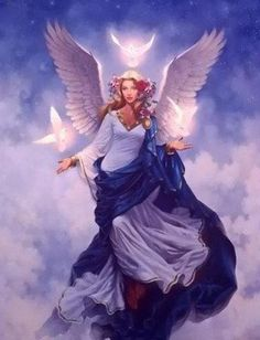 Mini Card Reading For Today: Archangel Haniel ~ Moon Cycles Angels Among Us, Angels And Demons, Archangel Haniel, Angel Protector, I Believe In Angels, Doreen Virtue, Angel Pictures, Angel Images, Angel Cards