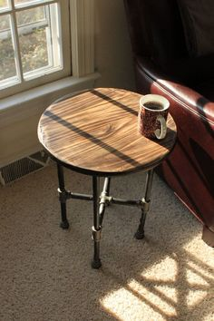 Hand Scraped Industrial Iron Pipe Table on Etsy, $145.00